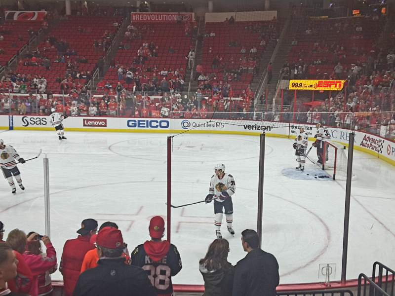 Seating view for PNC Arena Section 101 Row H Seat 2,3,4,5