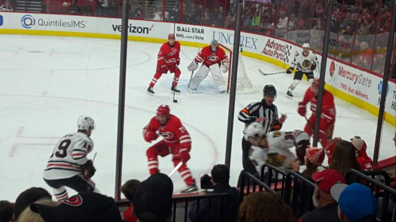 Seating view for PNC Arena Section 101 Row H Seat 5