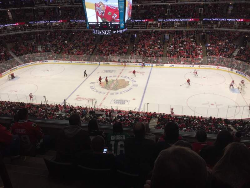 Seating view for United Center Section 333 Row 5 Seat 14