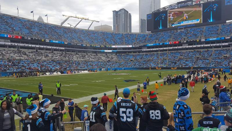 Seating view for Bank of America Stadium Section 137 Row 7 Seat 21