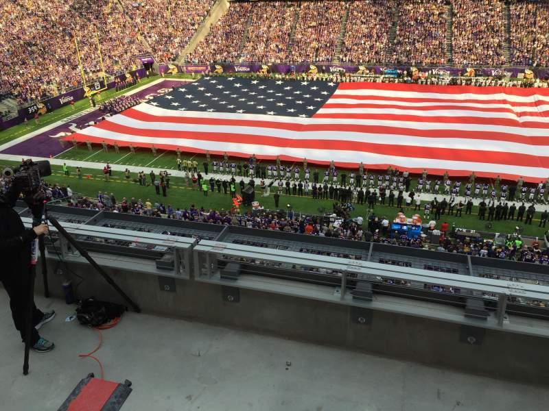 Seating view for U.S. Bank Stadium