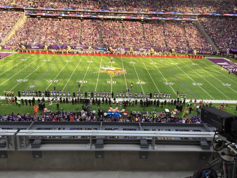 Seating view for U.S. Bank Stadium