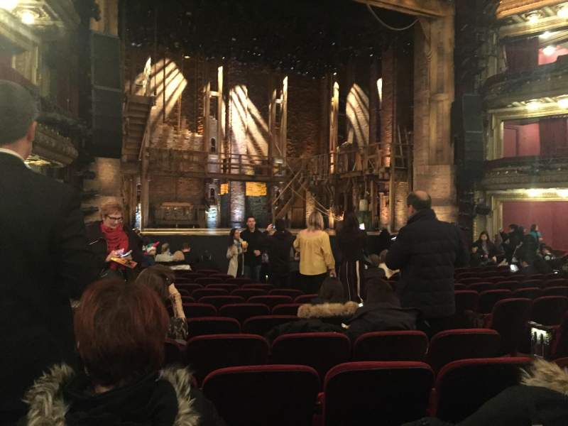 Seating view for CIBC Theatre Section Orchestra L Row R Seat 9