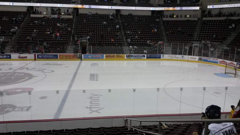 Seating view for Giant Center Section 108c Row L Seat 3
