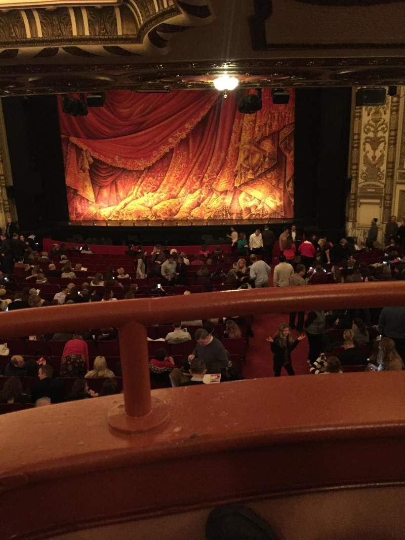 Seating view for Cadillac Palace Theater Section dress circle rc Row A  Seat 223