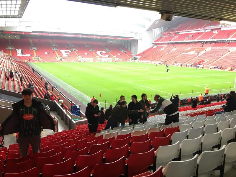 Seating view for Anfield Section 129 Row 29 Seat 201