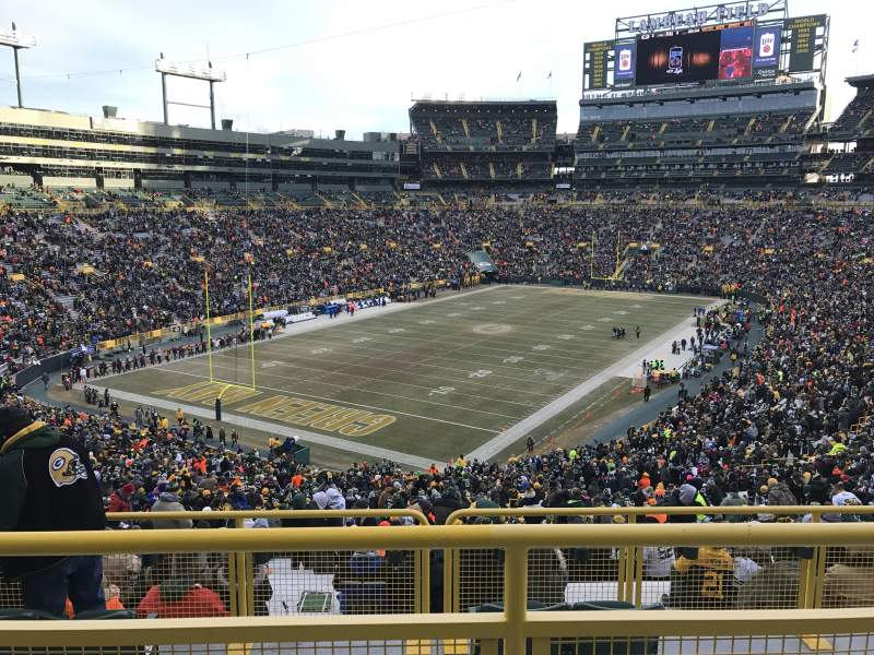 Seating view for Lambeau Field Section 308 Row 2 Seat 27