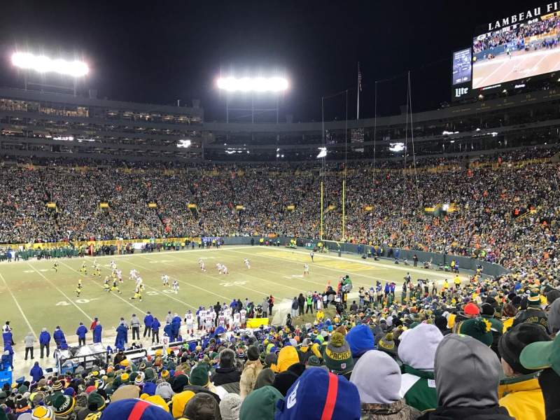 Seating view for Lambeau Field Section 129 Row 32 Seat 10