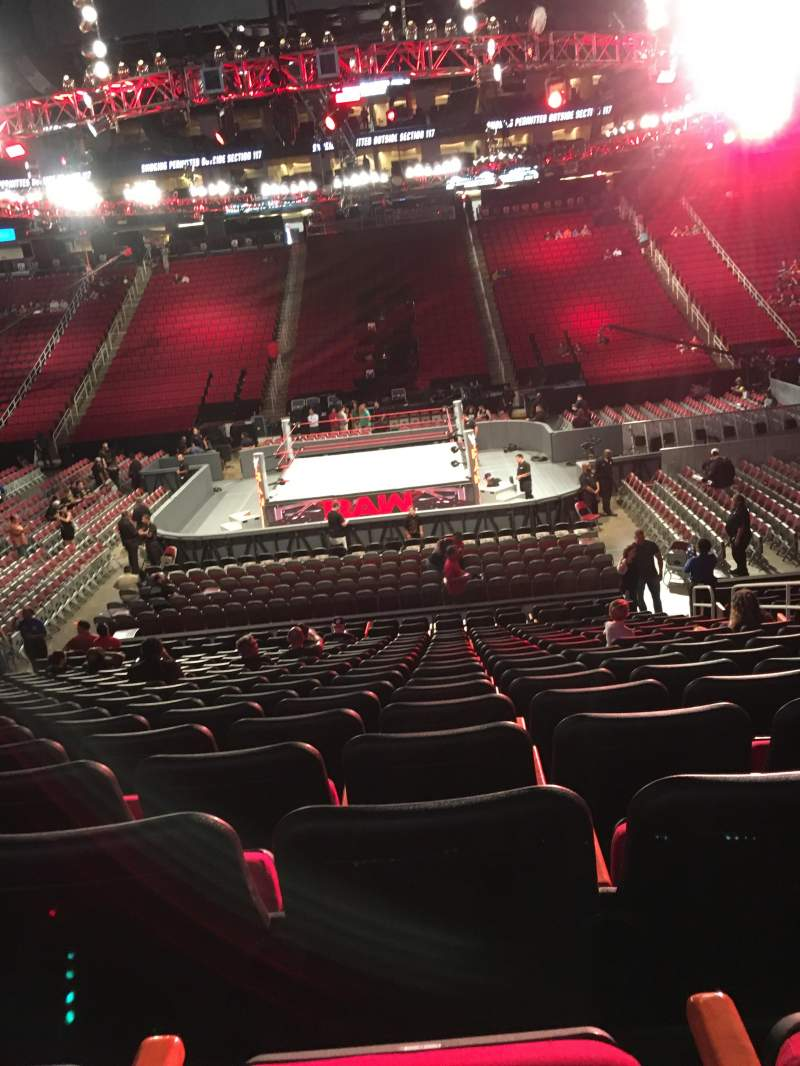 Seating view for Toyota Center Section 107 Row 18 Seat 8