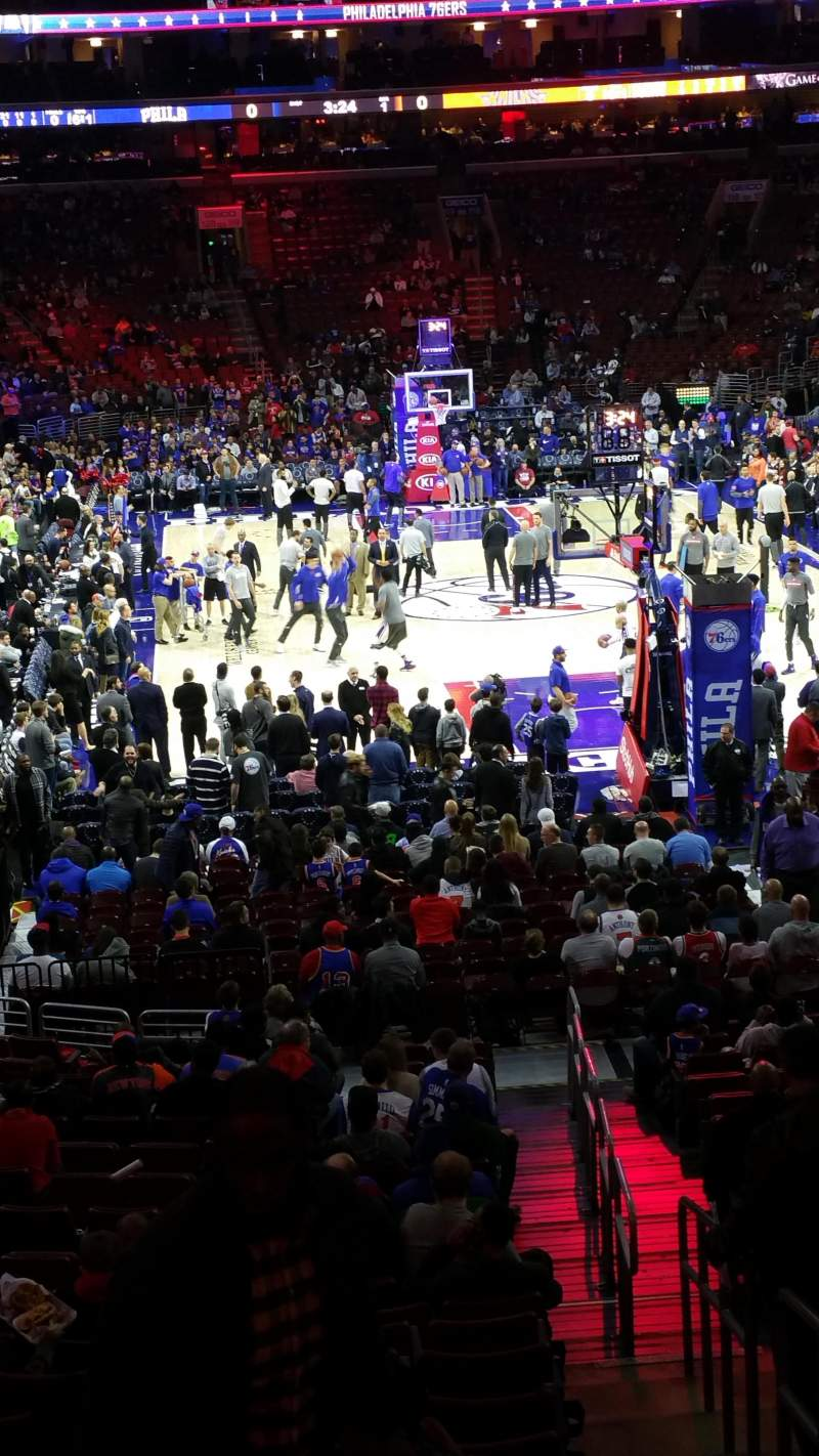 Seating view for Wells Fargo Center Section 106 Row 23 Seat 16