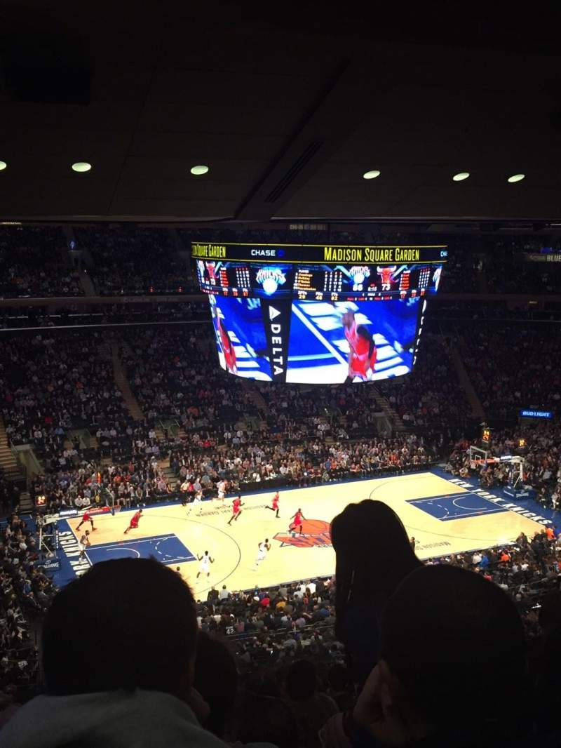 Seating view for Madison Square Garden Section 209 Row 14 Seat 11-14
