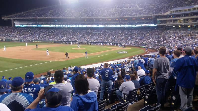 Seating view for Kauffman Stadium Section 114 Row W Seat 5