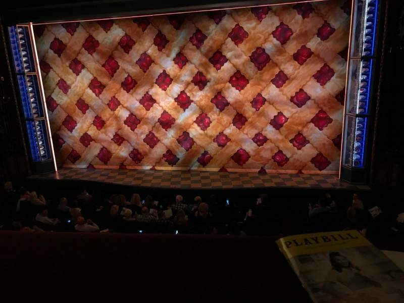 Seating view for Brooks Atkinson Theatre Section Front Mezzanine C Row A Seat 114