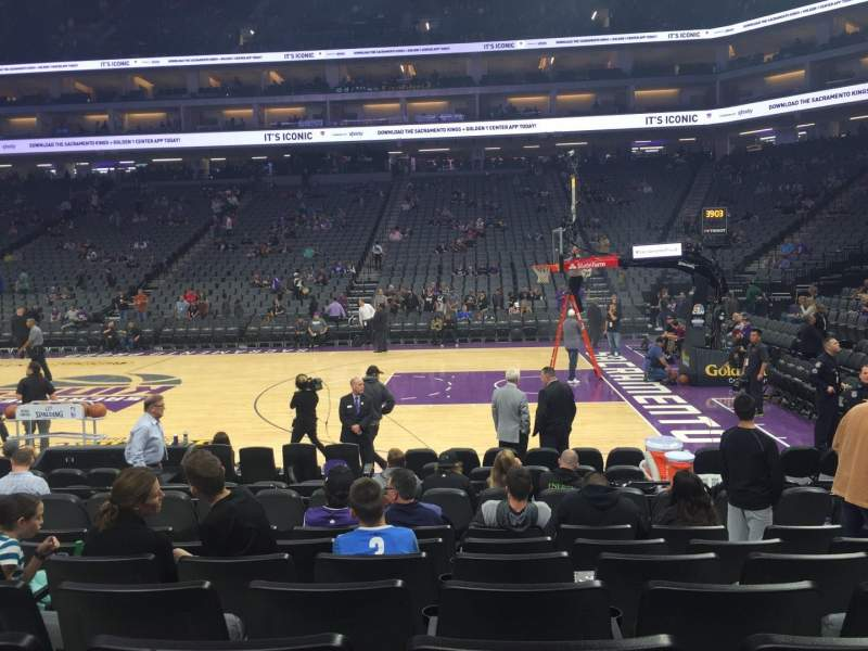 Seating view for Golden 1 Center Section 106 Row EE Seat 7