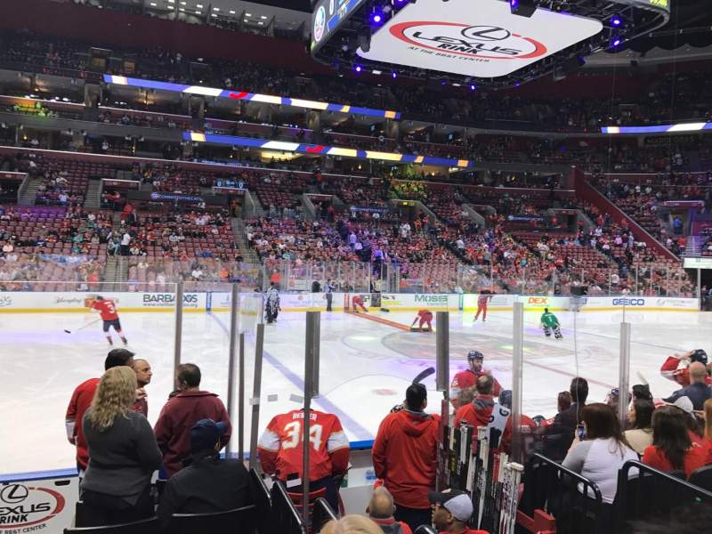 Seating view for BB&T Center Section 102 Row 8 Seat 13