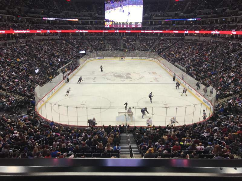 Seating view for Pepsi Center Section 246 Row 1 Seat 9