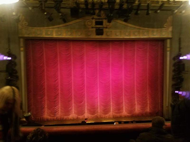 Seating view for Broadhurst Theatre Section mezz cent Row 4 Seat 105