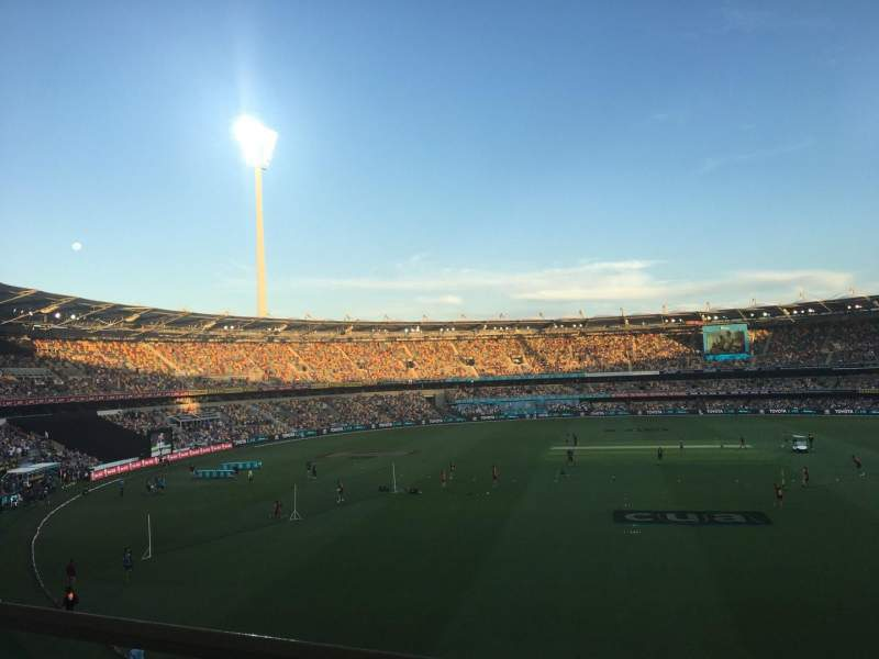 Seating view for The Gabba Section 76 Row AA Seat 410