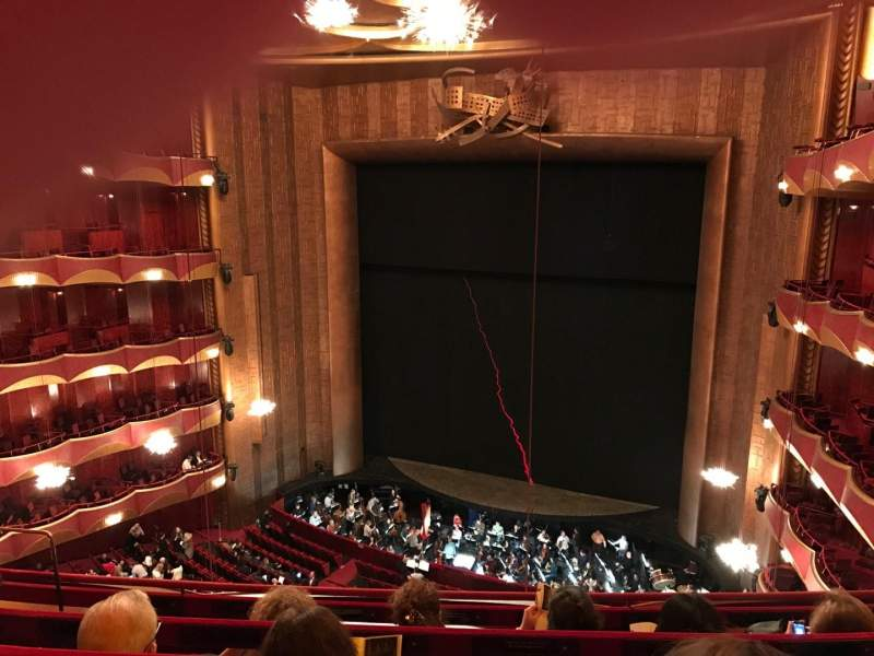 Seating view for Metropolitan Opera House - Lincoln Center Section Balcony Row D Seat 10
