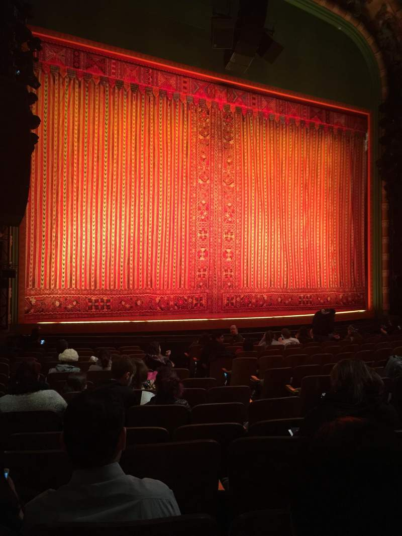 Seating view for New Amsterdam Theatre Section Orchestra L Row N Seat 11