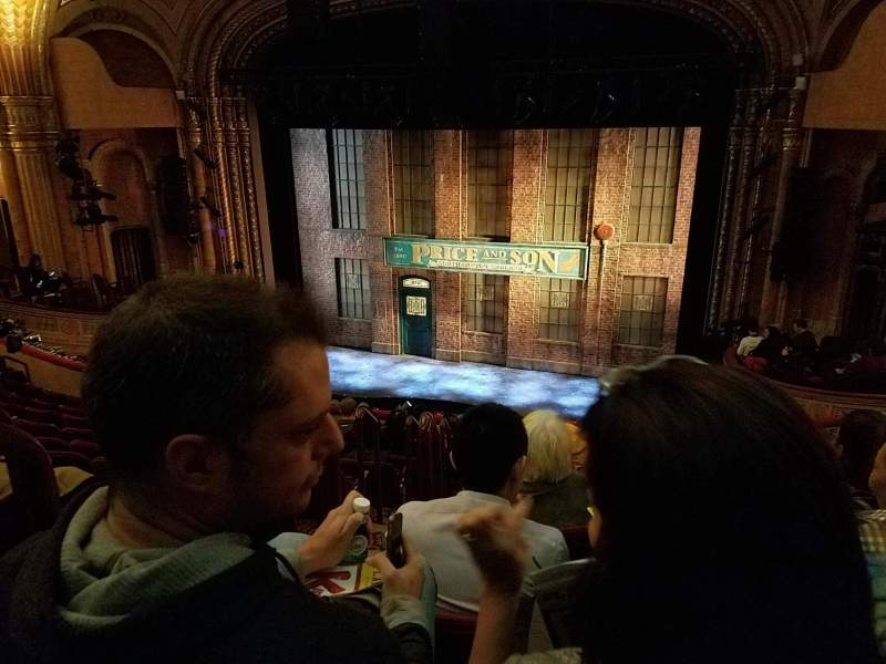 Seating view for Al Hirschfeld Theatre Section Mezzanine R Row K Seat 4