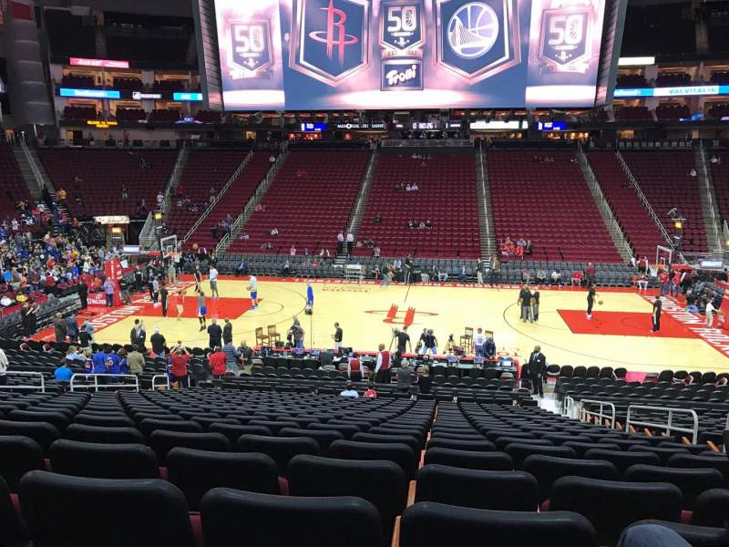 Seating view for Toyota Center Section 120 Row 21 Seat 5