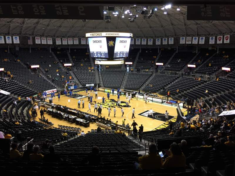 Seating view for Charles Koch Arena Section 119 Row 34 Seat 4