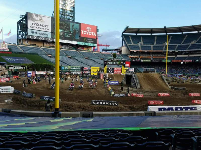 Seating view for Angel Stadium Section F103 Row W Seat 23