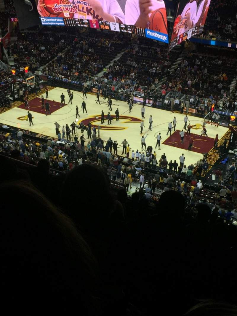 Seating view for Quicken Loans Arena Section 211 Row 12 Seat 12