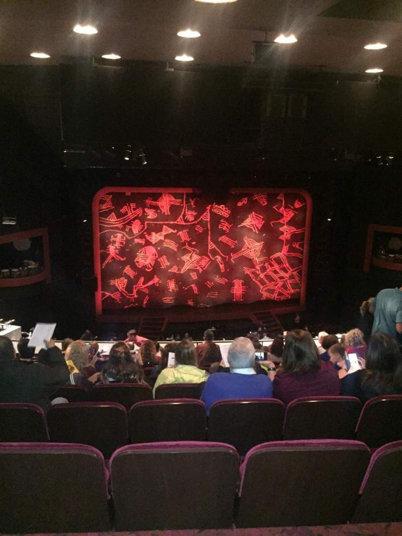 Seating view for Minskoff Theatre Section Mezzanine Row K Seat 113