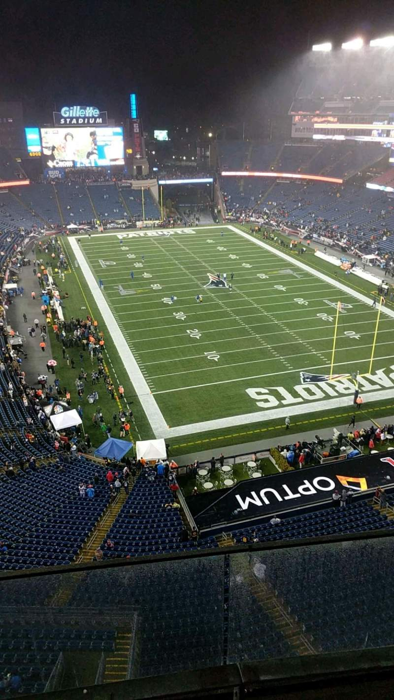 Seating view for Gillette Stadium Section 319 Row 3 Seat 12