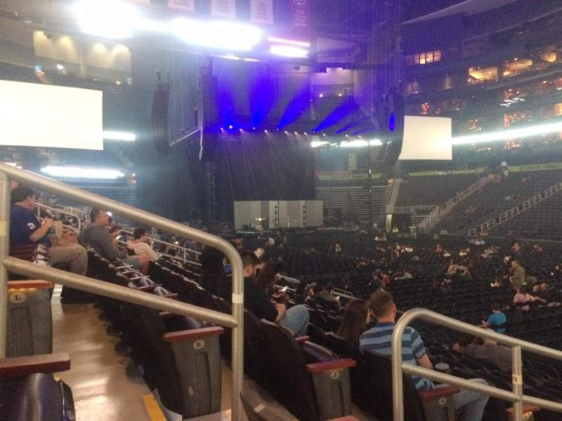 Seating view for State Farm Arena Section 117 Row L Seat 11