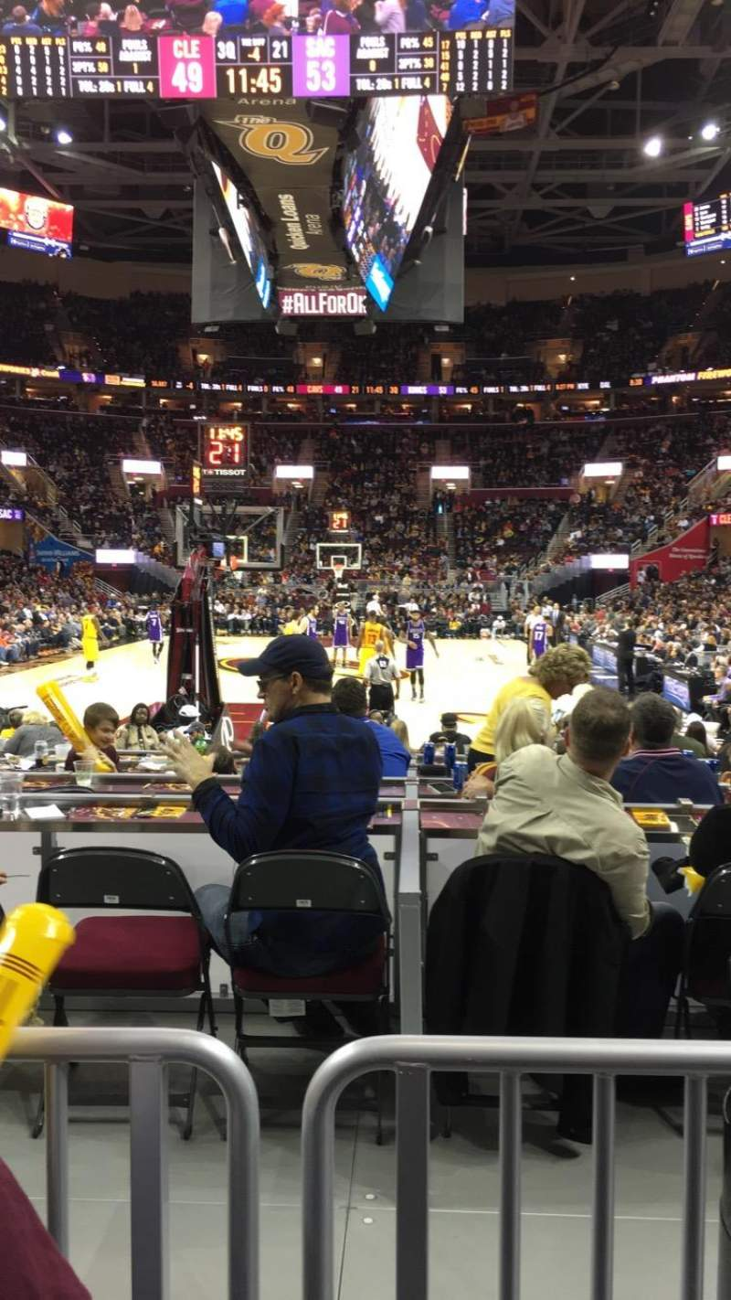 Seating view for Quicken Loans Arena Section 117 Row 2 Seat 16