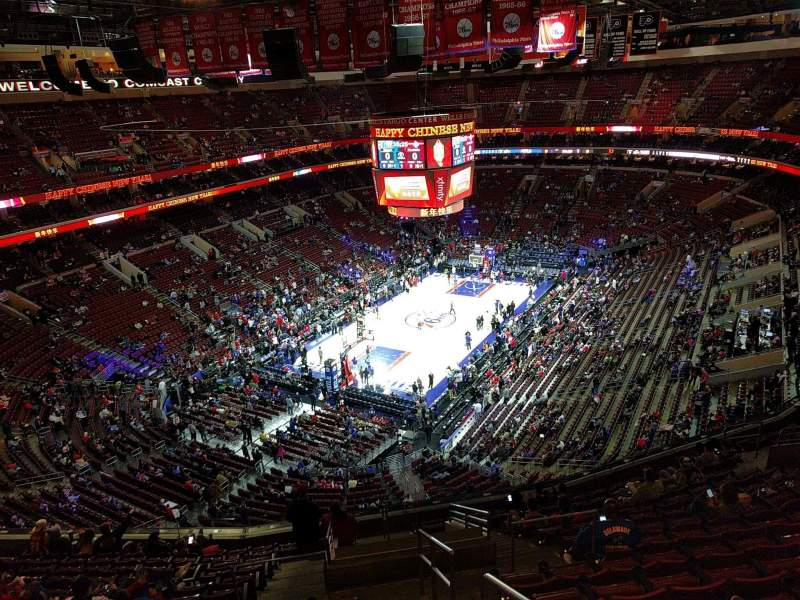 Seating view for Wells Fargo Center Section 209 Row 14 Seat 18