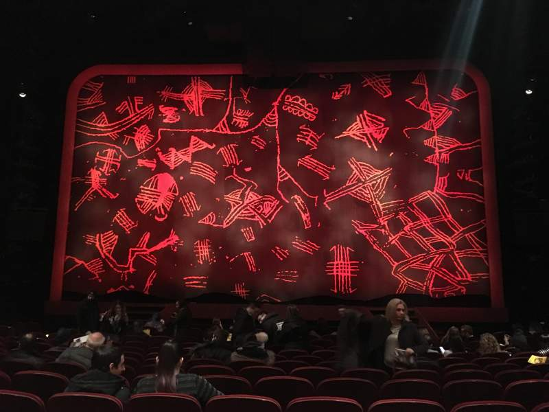 Seating view for Minskoff Theatre Section Orchestra Row O Seat 119
