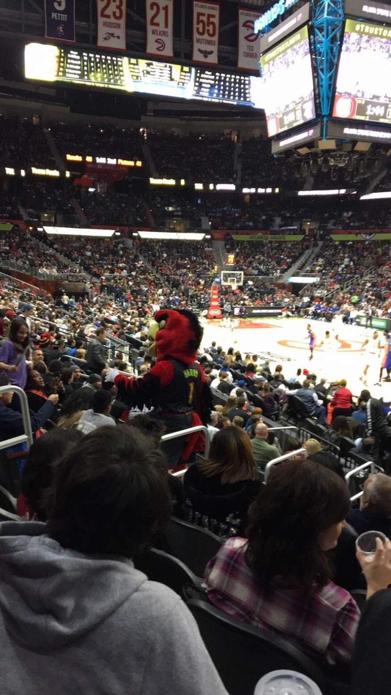 Philips Arena, section: 106, row: Q, seat: 14