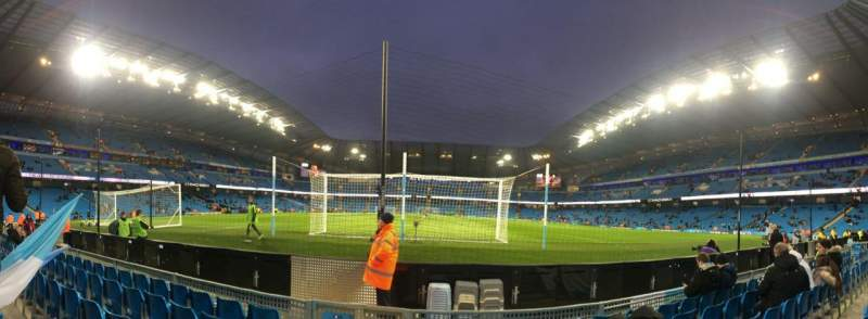 Seating view for Etihad Stadium (Manchester) Section 115 Row A Seat 409