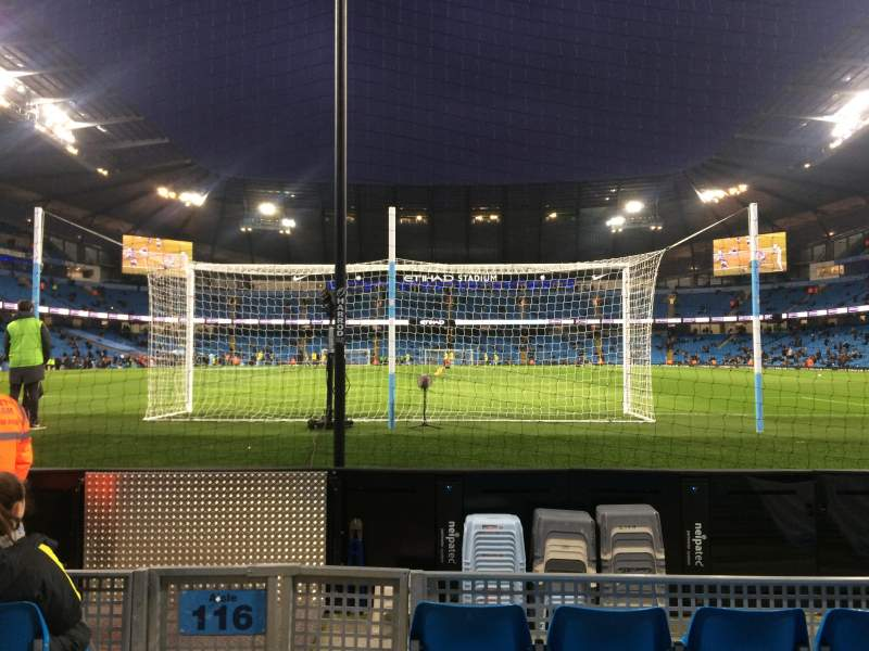 Seating view for Etihad Stadium (Manchester) Section 115 Row B Seat 409