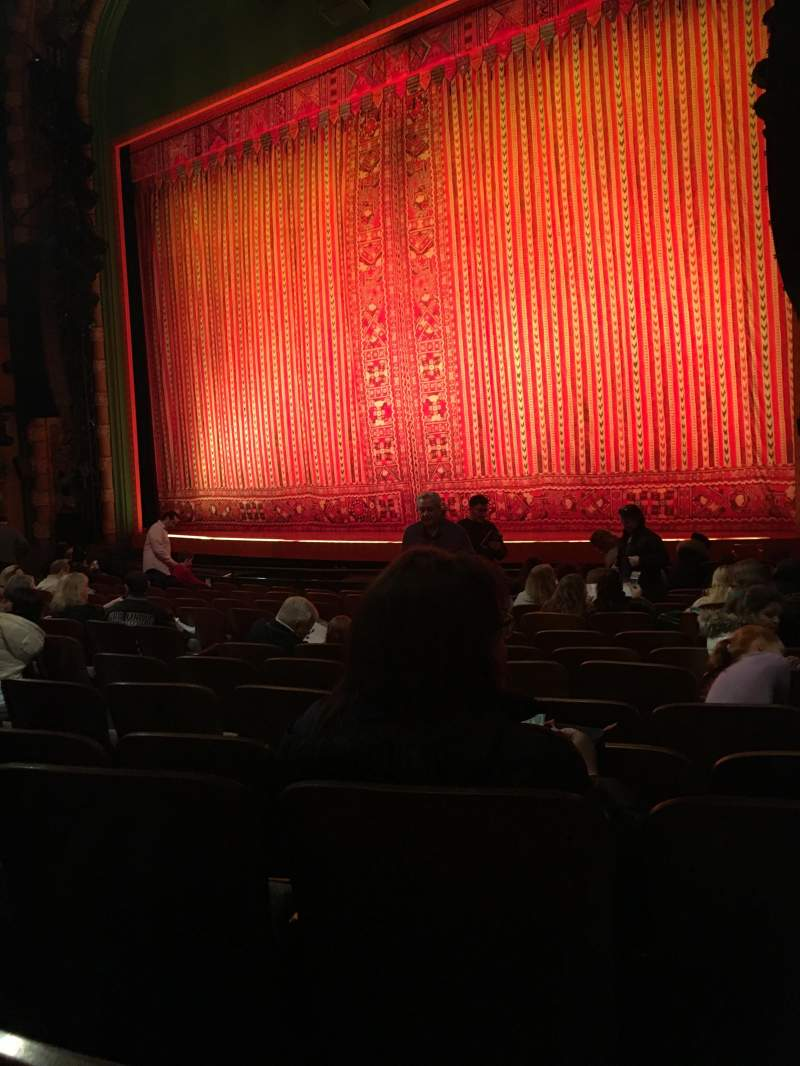 Seating view for New Amsterdam Theatre Section Orchestra R Row M  Seat 18