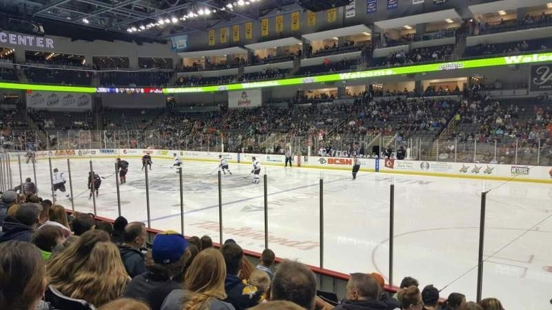 Seating view for Huntington Center Section 116 Row h Seat 2