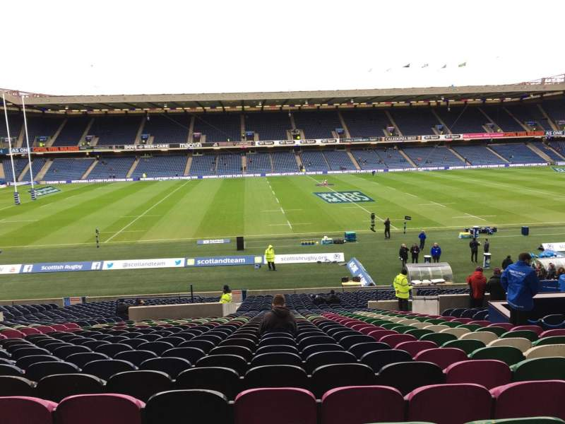 Seating view for Murrayfield Stadium Section West Row Mm Seat 28