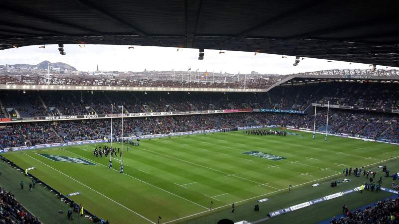 Seating view for Murrayfield Stadium Section W40 Row RR Seat 16