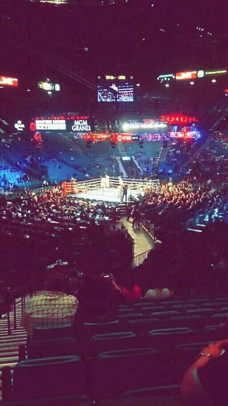 Seating view for MGM Grand Garden Arena Section 19 Row X Seat 20