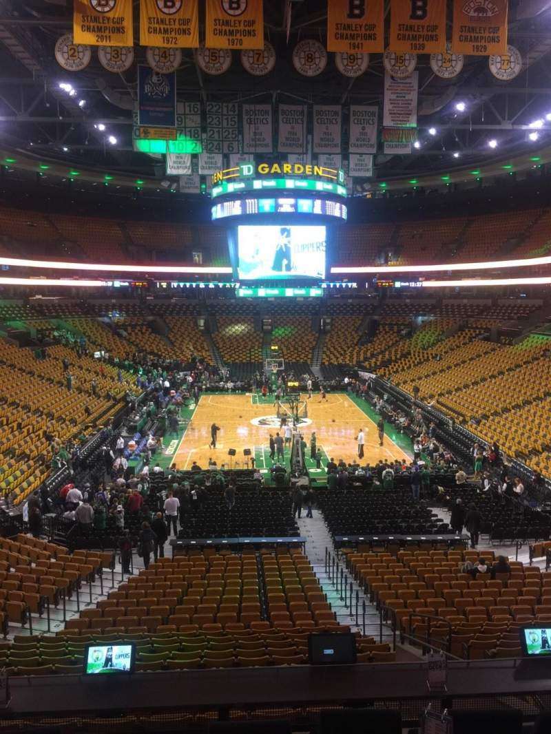 Seating view for TD Garden Section Sports Deck Row C Seat 32