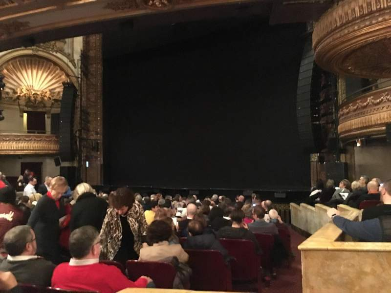 Seating view for Palace Theatre (Broadway) Section Orchestra Row N Seat 4