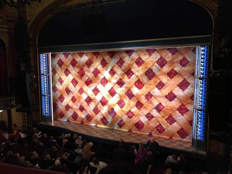 Seating view for Brooks Atkinson Theatre Section Front Mezzanine R Row B Seat 8