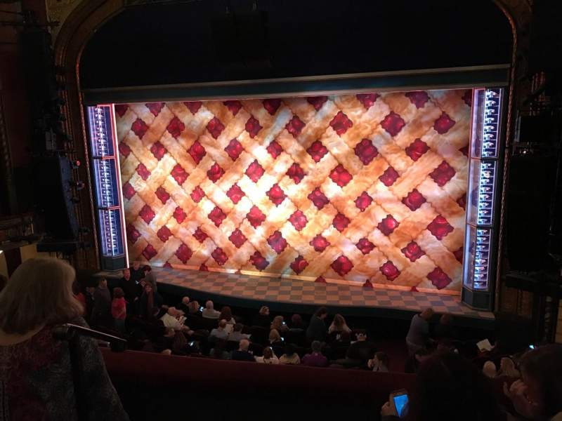 Seating view for Brooks Atkinson Theatre Section Front Mezzanine R Row C Seat 2