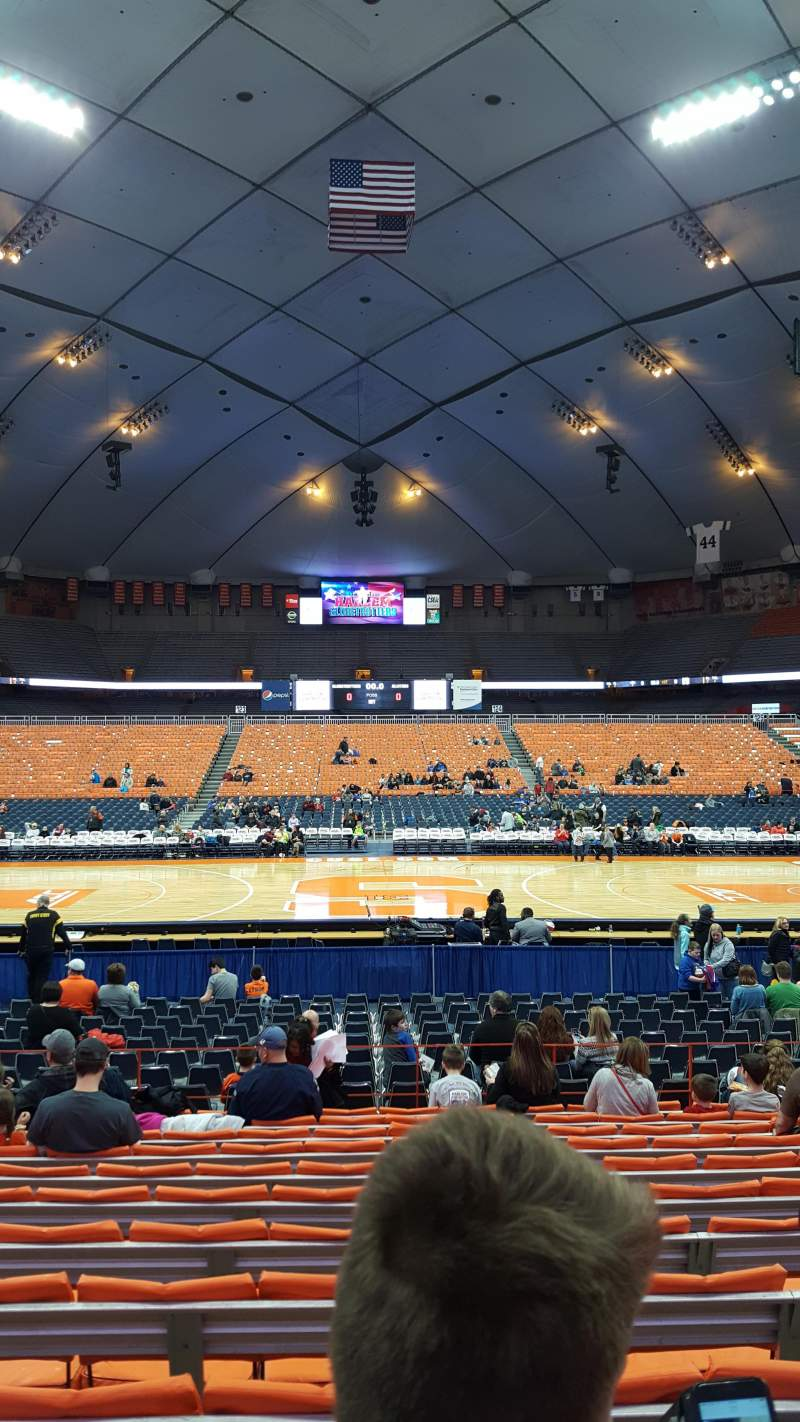 Seating view for Carrier Dome Section 109 Row L Seat 115