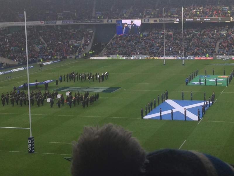 Seating view for Murrayfield Stadium Section South 8 Row X Seat 4