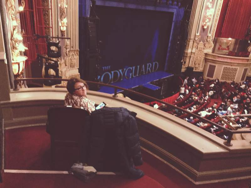 Seating view for James M. Nederlander Theatre Section Loge - Box 1 Row A Seat 375
